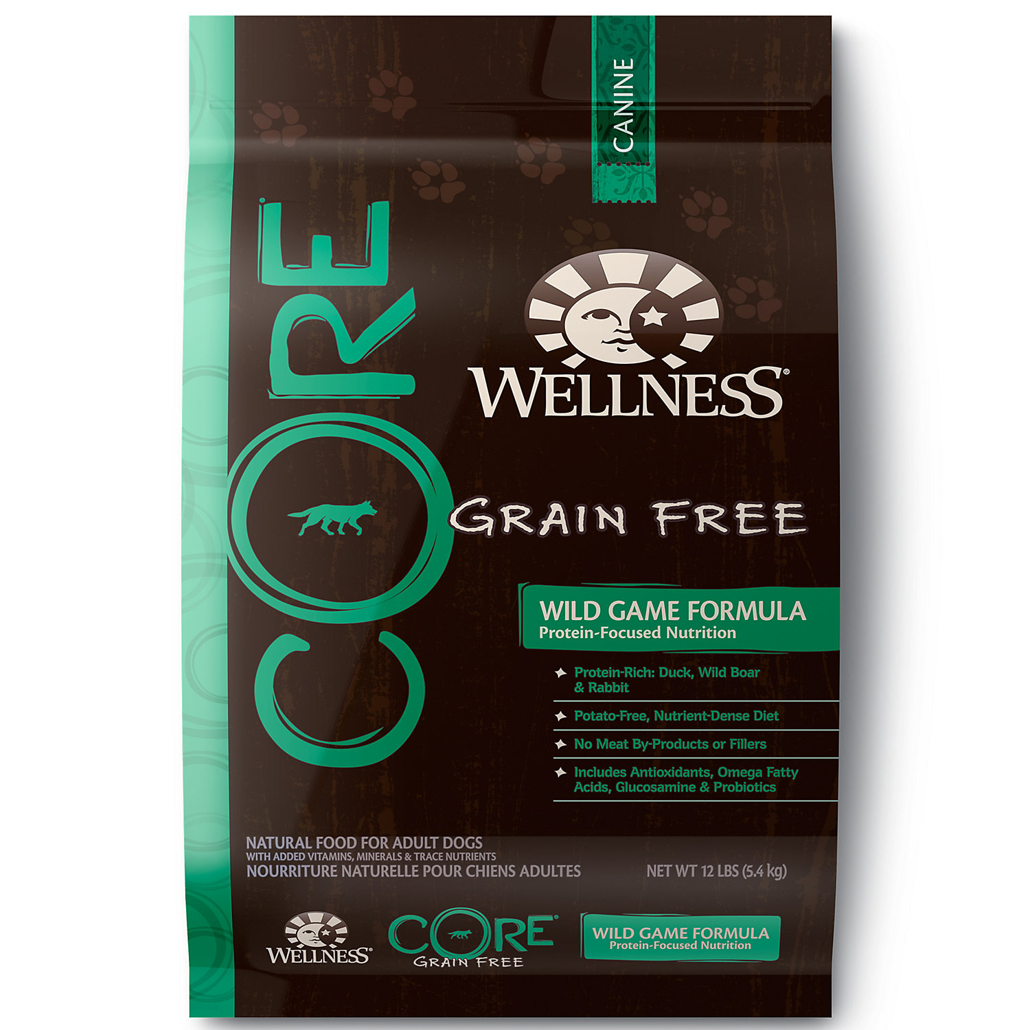 Wellness CORE Natural Grain Free Wild Game Recipe Dry Dog Food