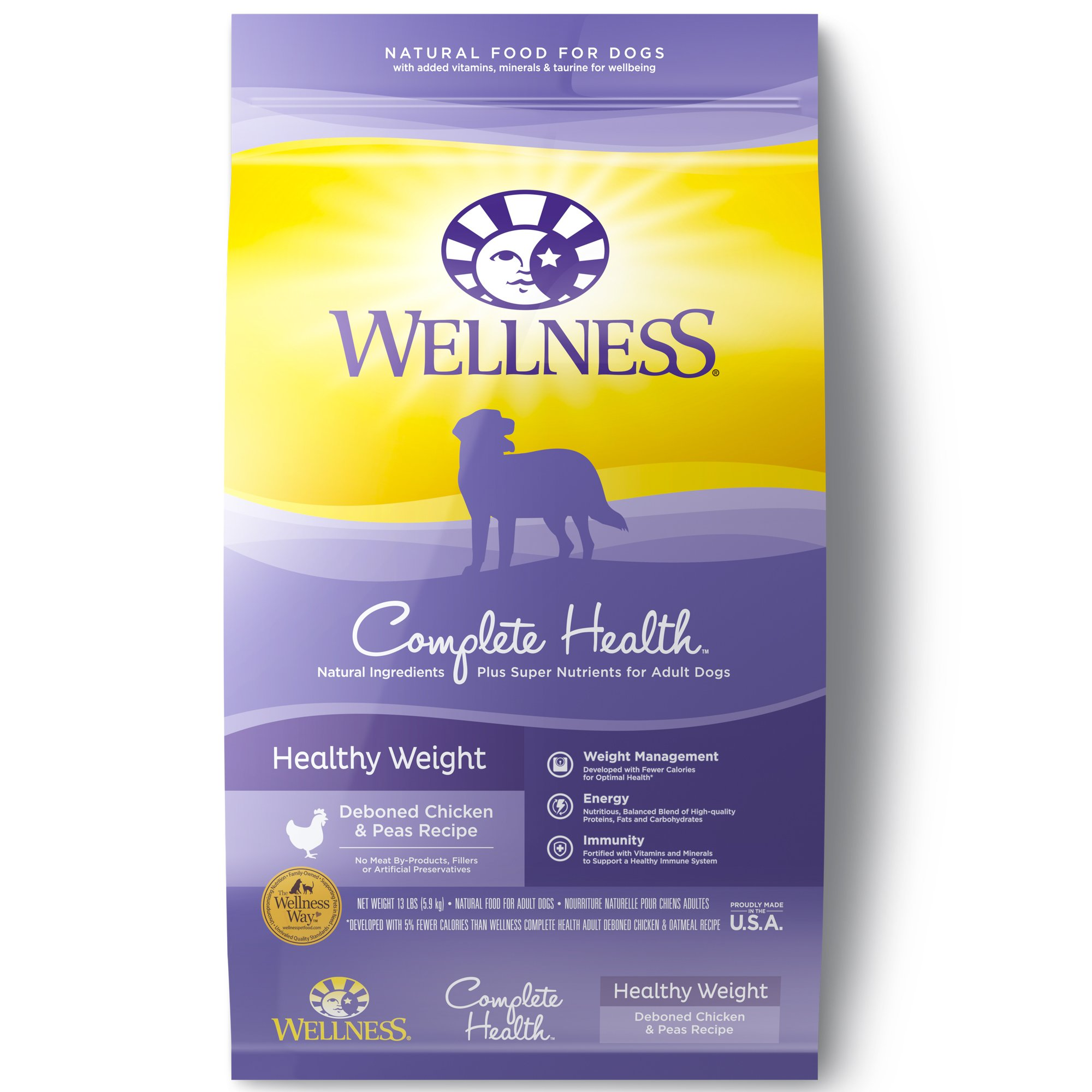 Wellness Complete Health Natural Healthy Weight Recipe Dry Dog Food, 13 lbs.
