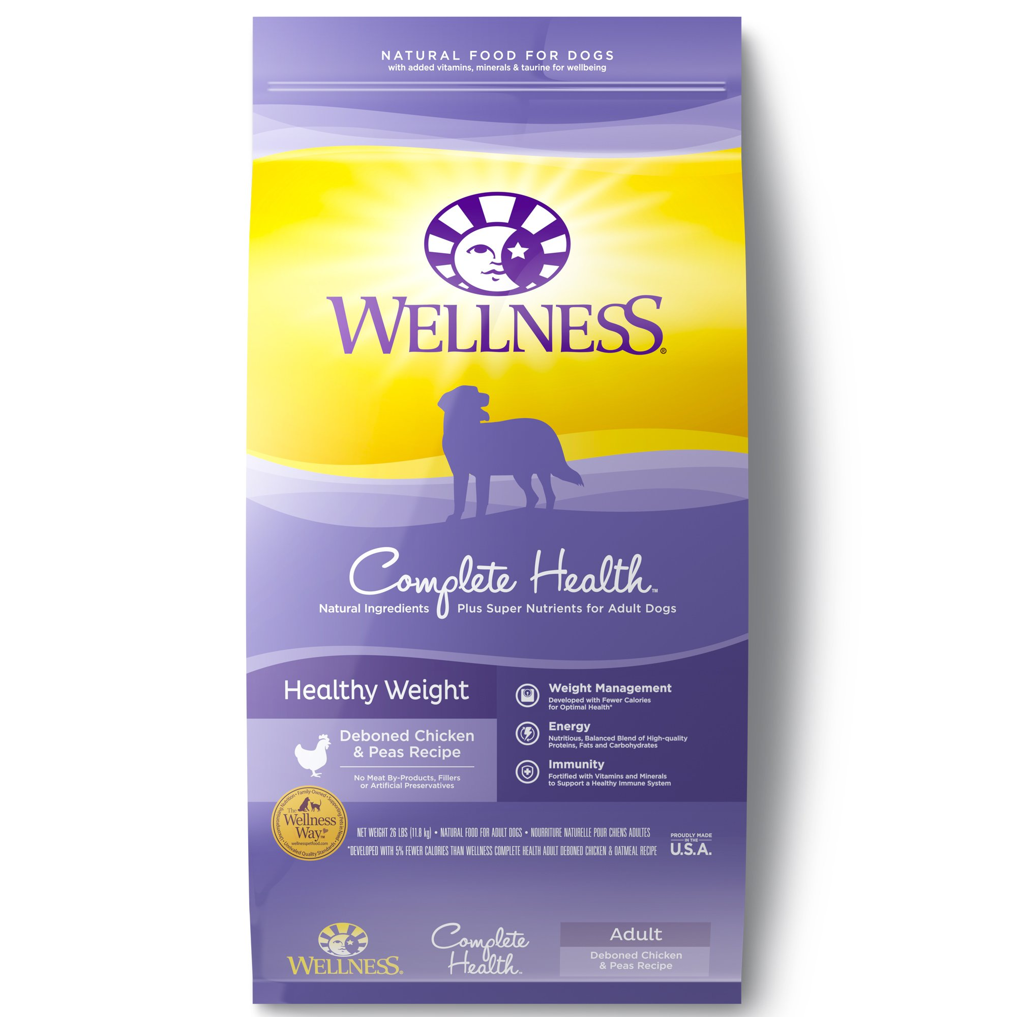 Wellness Complete Health Natural Healthy Weight Recipe Dry Dog Food, 26 lbs.