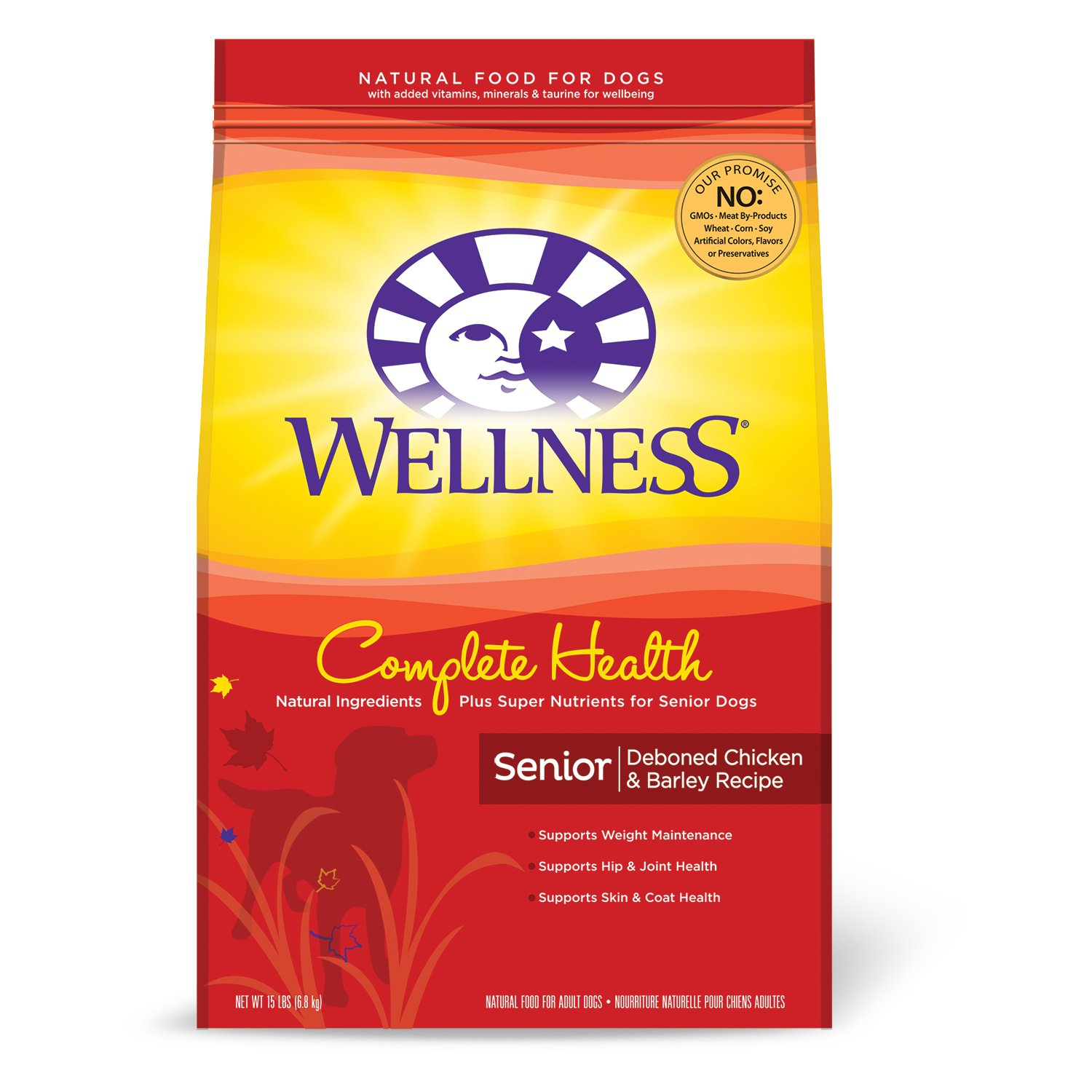 Wellness Complete Health Natural Senior Health Recipe Dry Dog Food, 15 lbs.