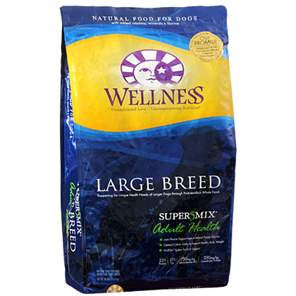 Wellness Super5Mix Large Breed Adult Dry Dog Food 30 lb