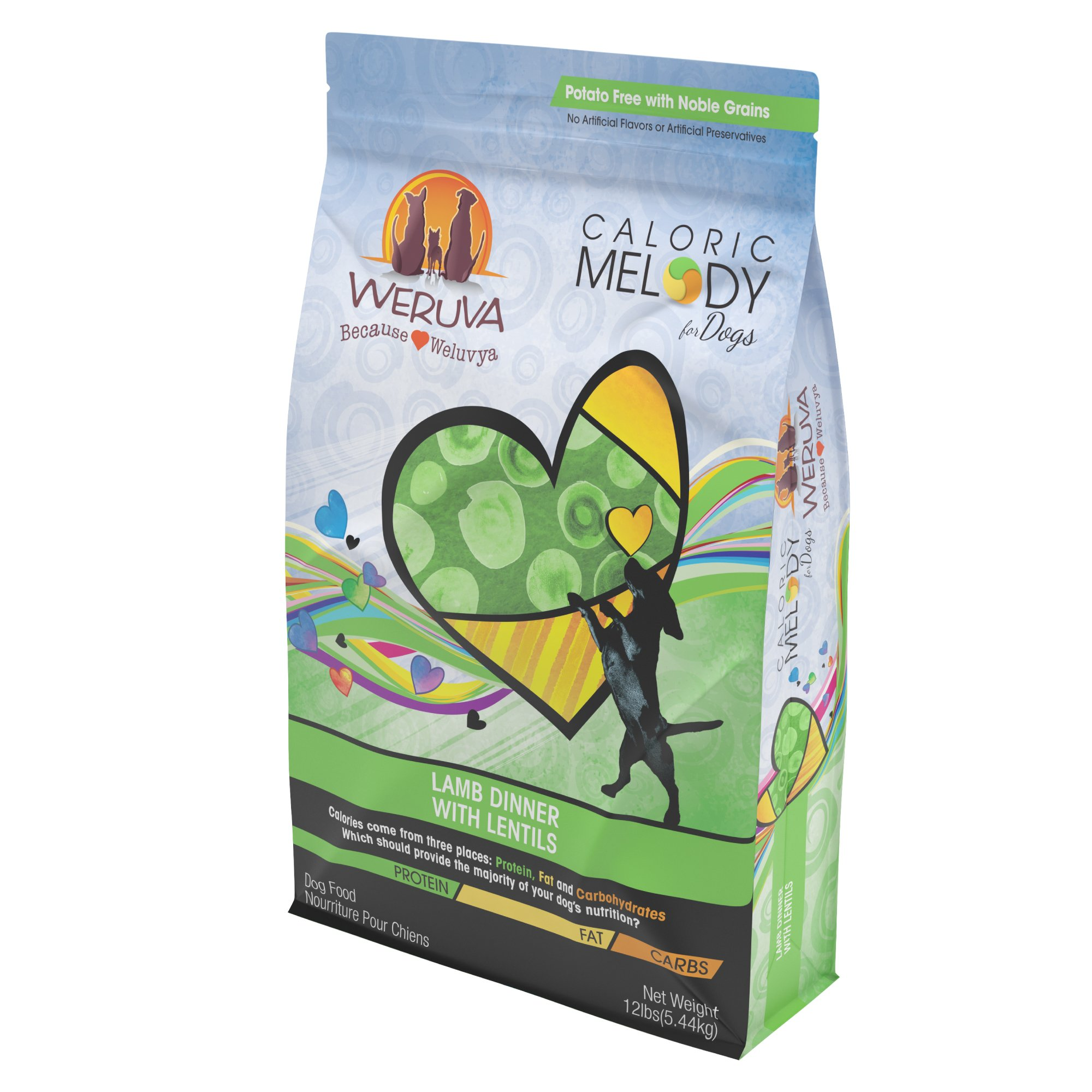 Weruva Caloric Melody Lamb Dinner With Lentils Dry Dog Food, 24 lbs.