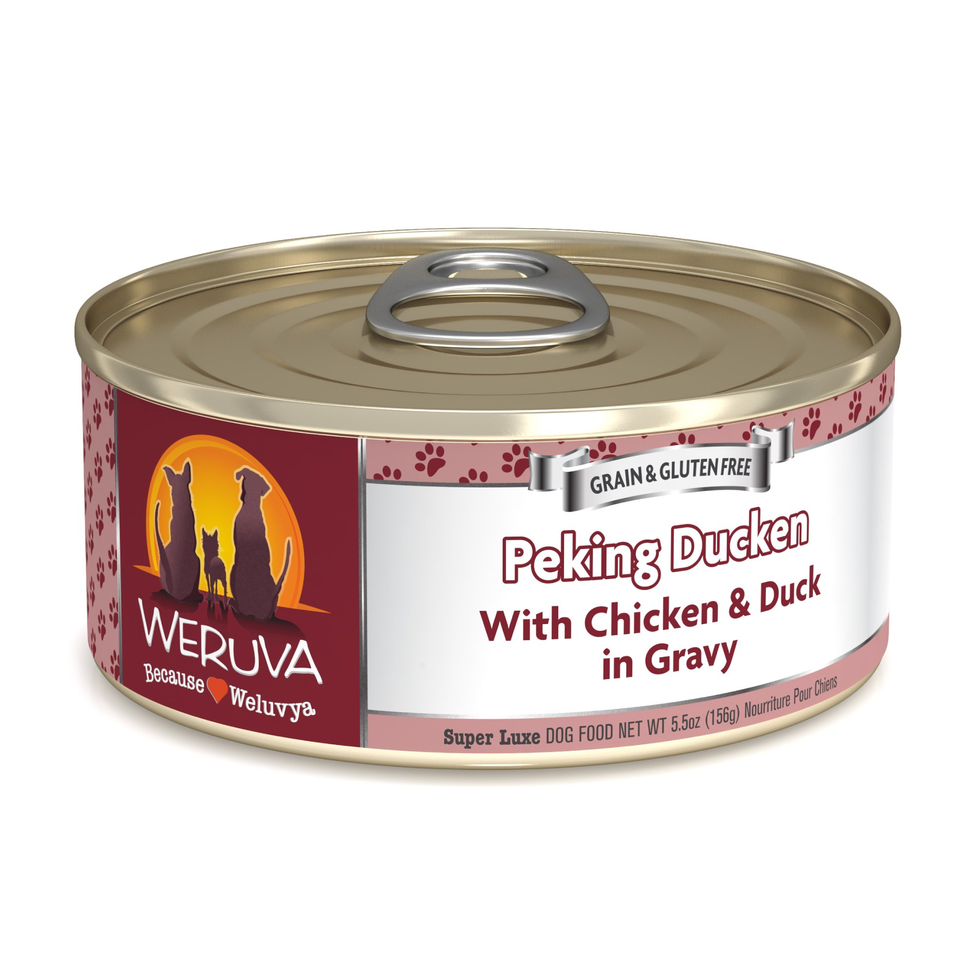 Weruva Classics Peking Ducken with Chicken & Duck in Gravy Wet Dog Food, 5.5 oz., Case of 24, 24 X 5.5 OZ