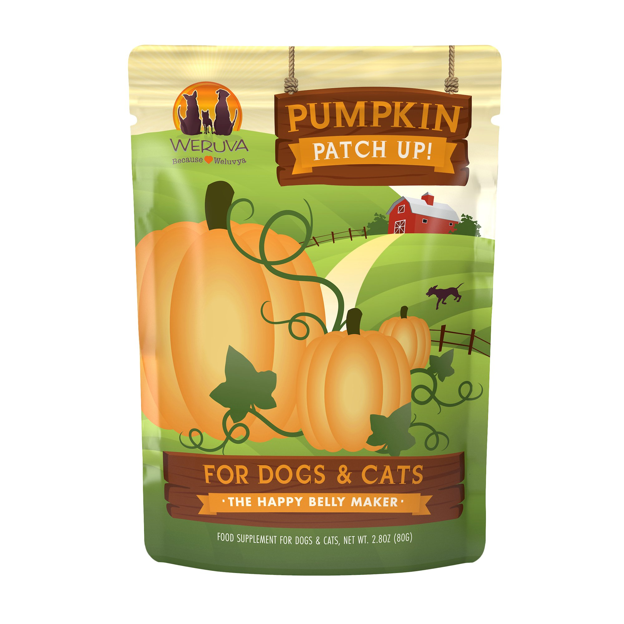 Weruva Pumpkin Patch Up! Supplement for Dogs and Cats, 2.8 oz., Case of 12, 12 X 2.8 OZ