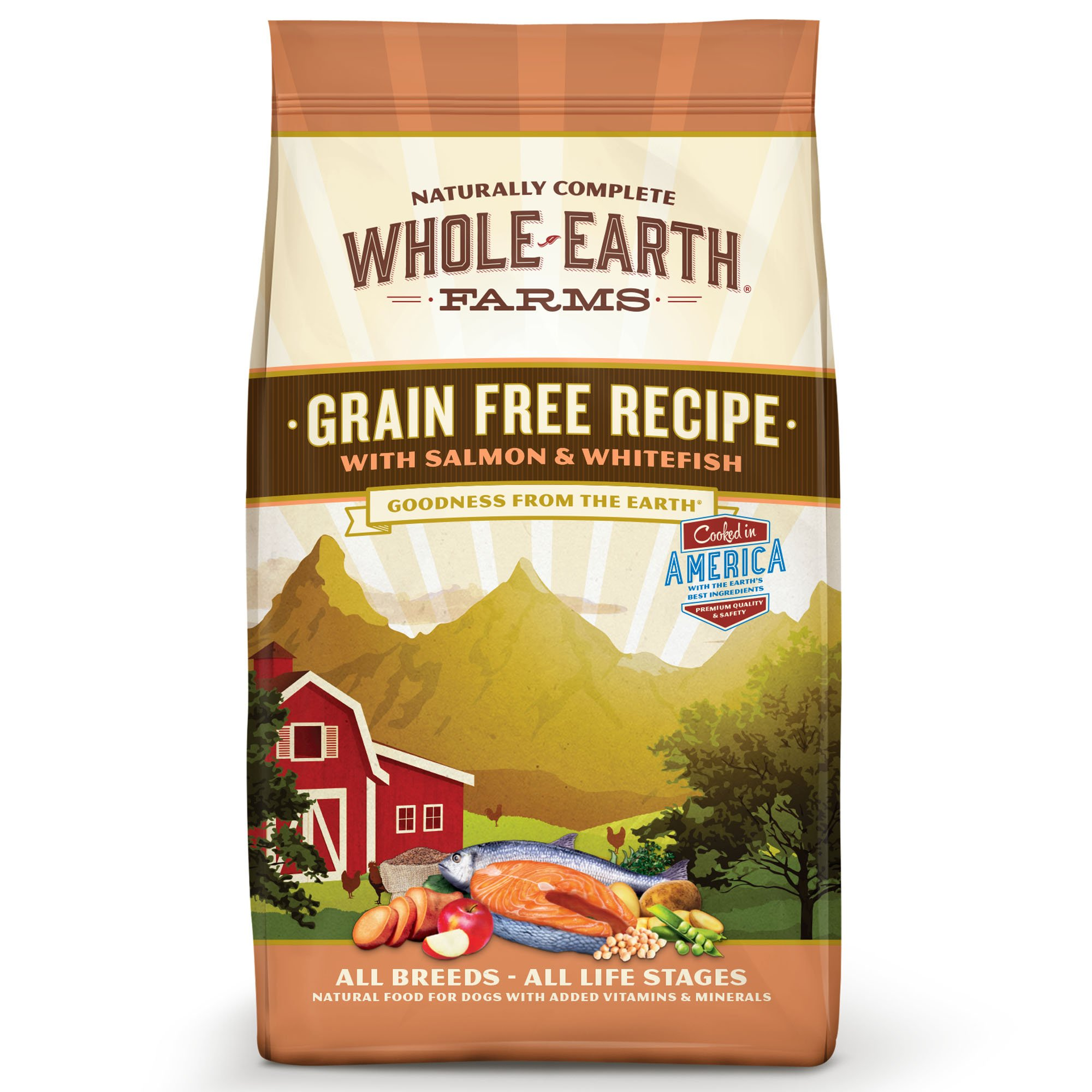 Whole Earth Farms Grain Free Recipe with Salmon & Whitefish Dry Dog Food, 4 lbs.
