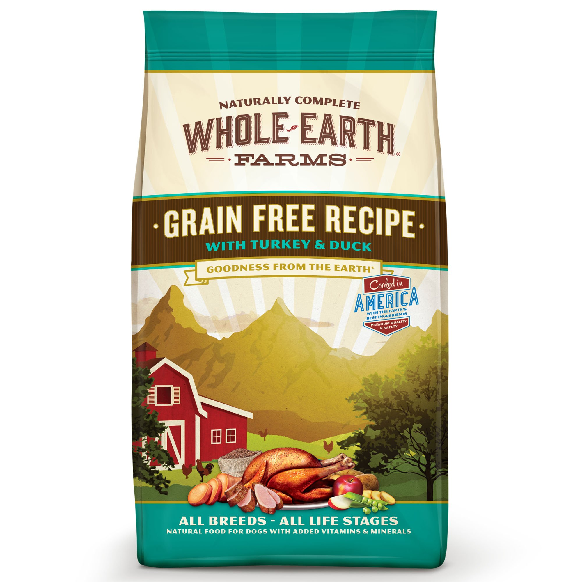 Whole Earth Farms Grain Free Recipe with Turkey & Duck Dry Dog Food, 25 lbs.