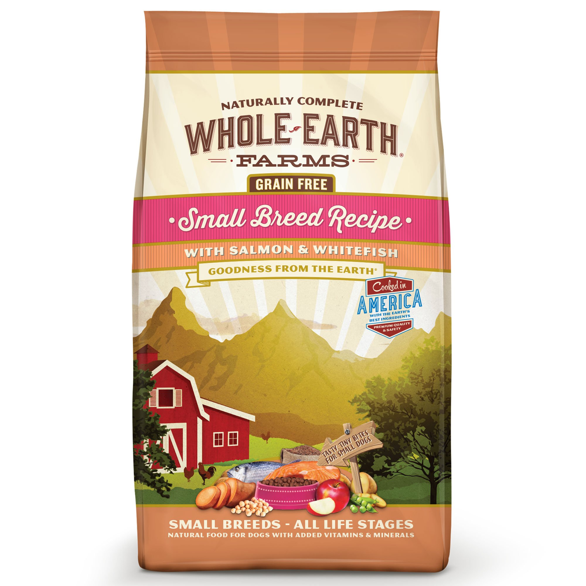 Whole Earth Farms Grain Free Small Breed Recipe with Salmon & Whitefish Dry Dog Food, 4 lbs.