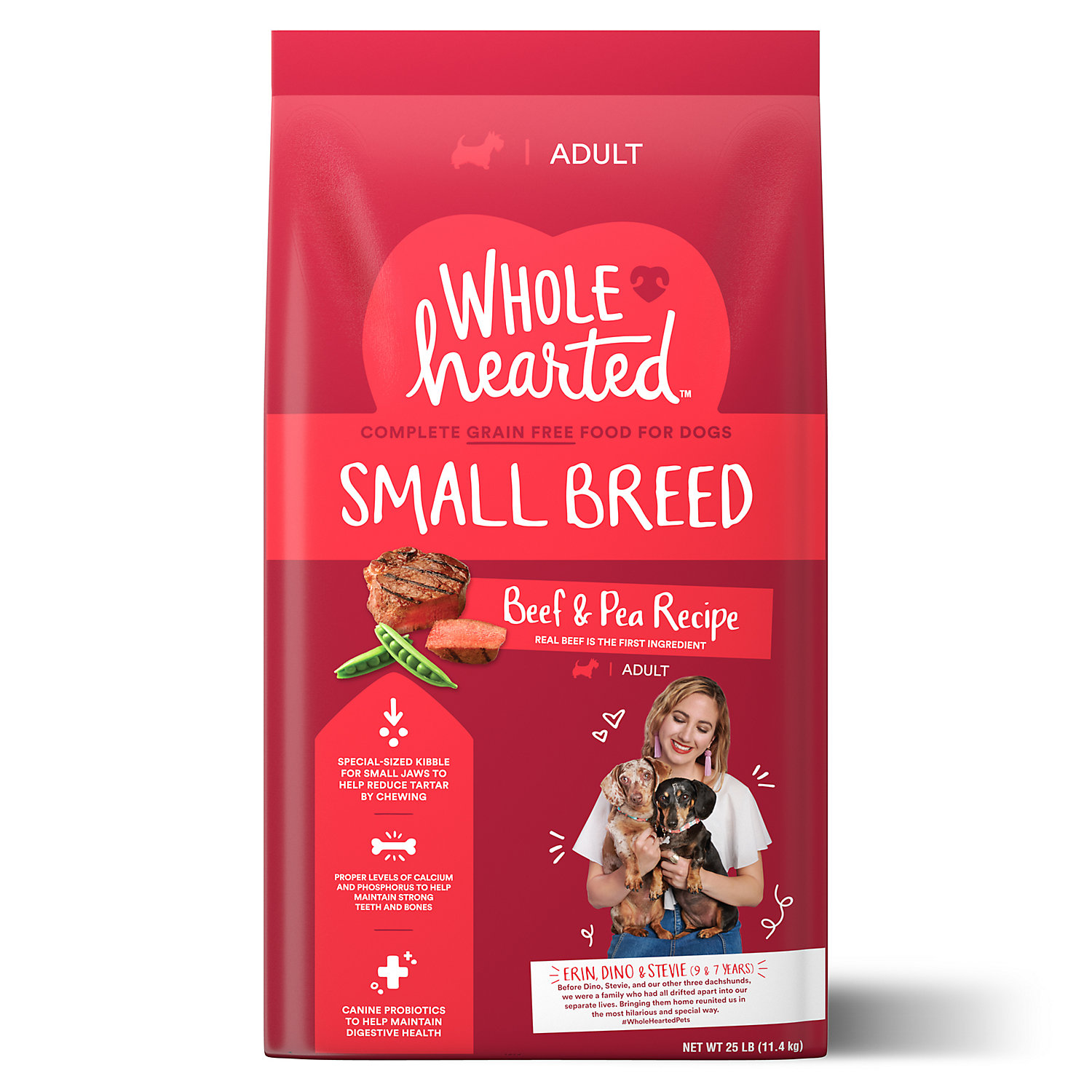 WholeHearted Grain Free Small-Breed Beef and Pea Recipe Adult Dry Dog Food