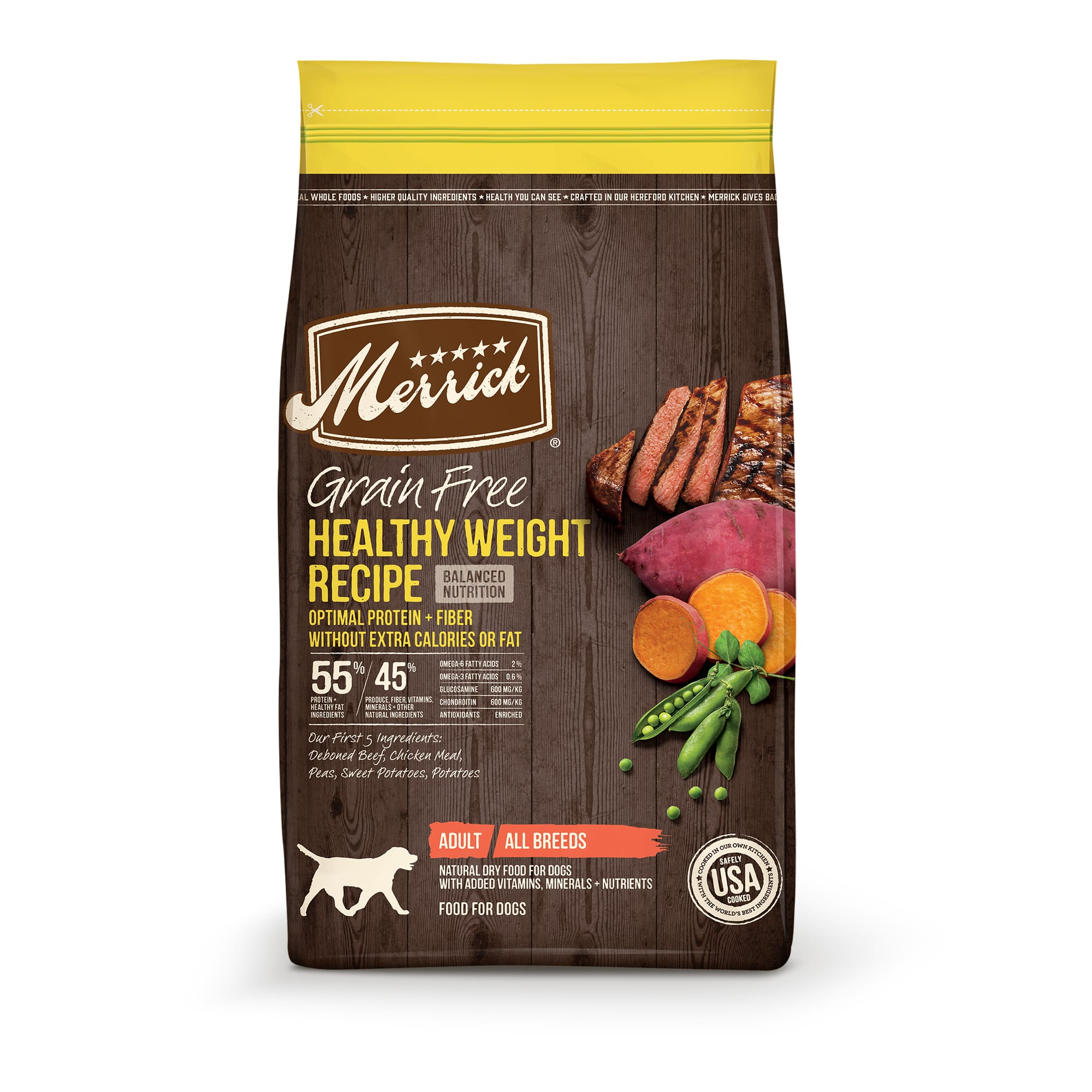 Merrick Grain Free Healthy Weight Beef Recipe Dry Dog Food, 4 lbs.