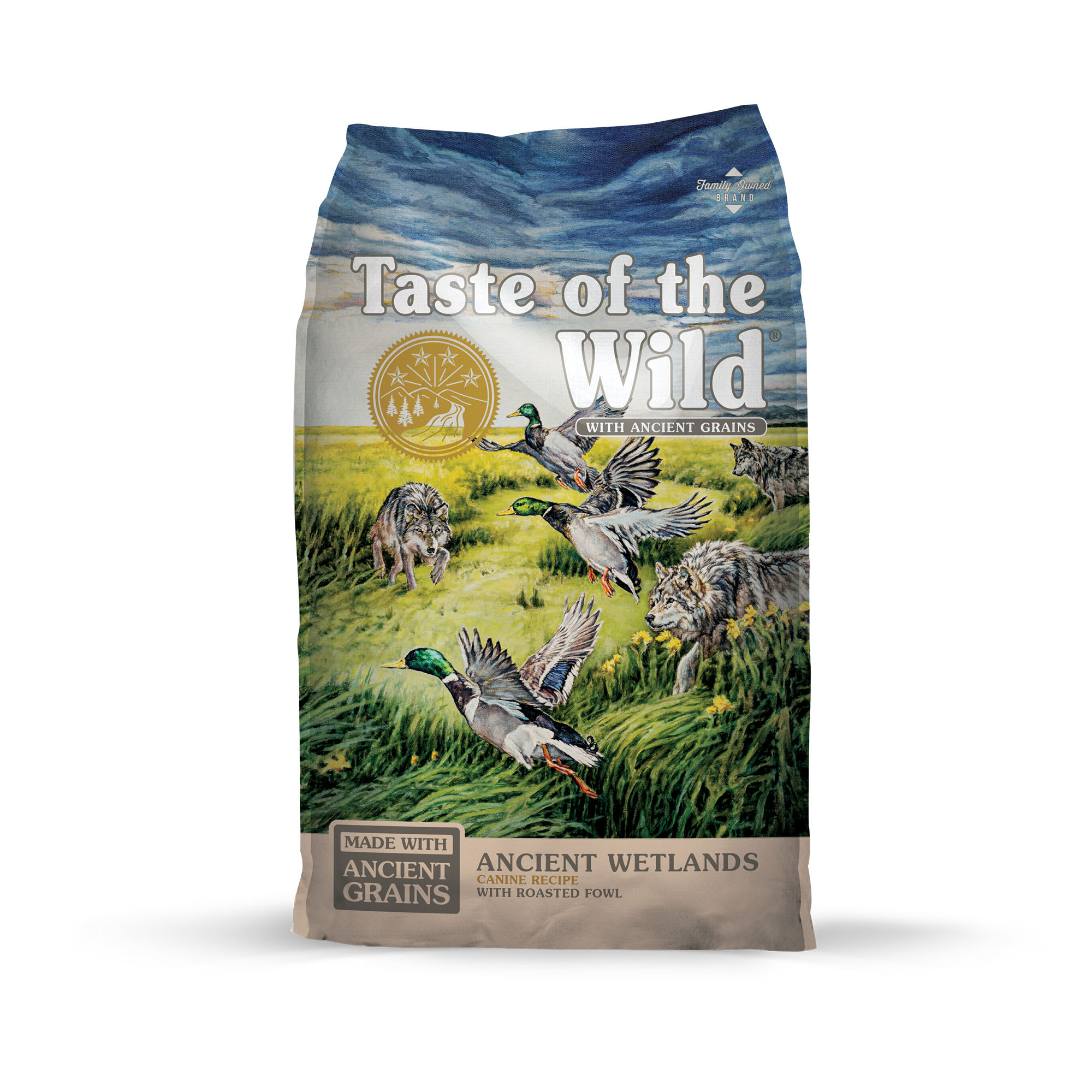 Taste of the Wild Ancient Wetlands with Roasted Fowl and Ancient Grains Dry Dog Food, 5 lbs.