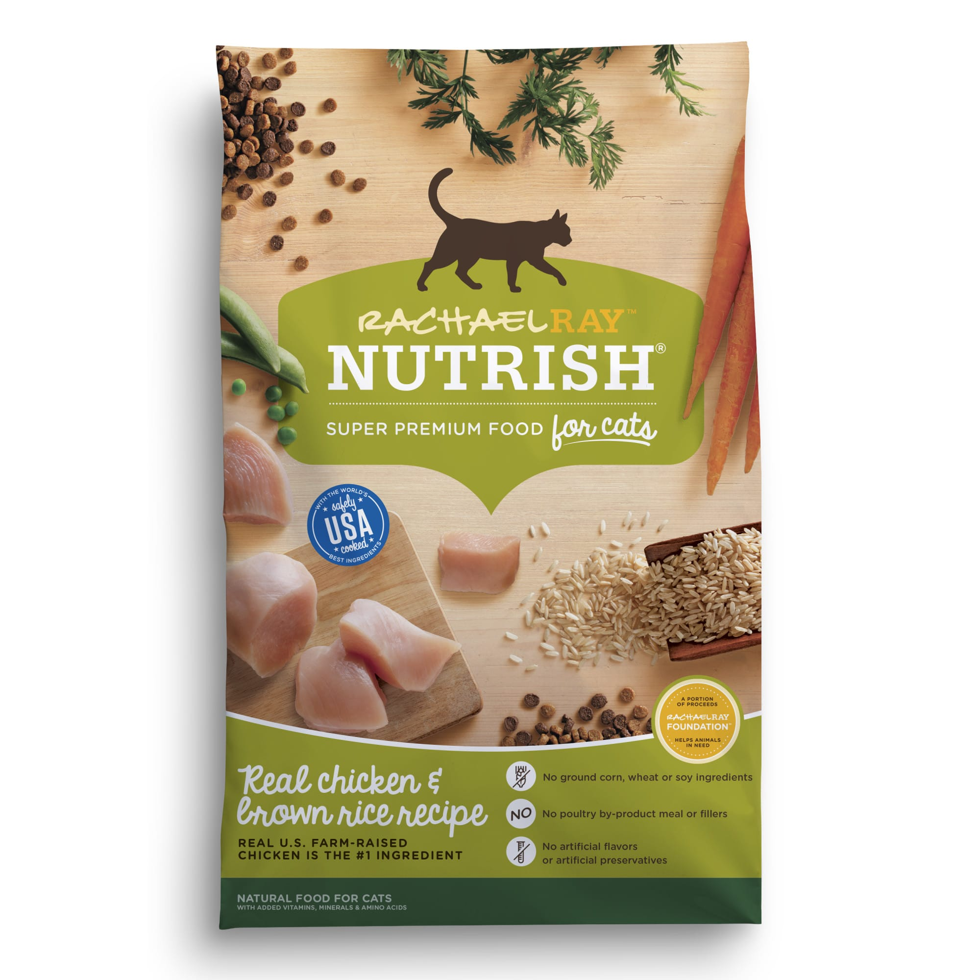 Rachael Ray Nutrish Natural Chicken & Brown Rice Recipe Dry Cat Food, 14 lbs.