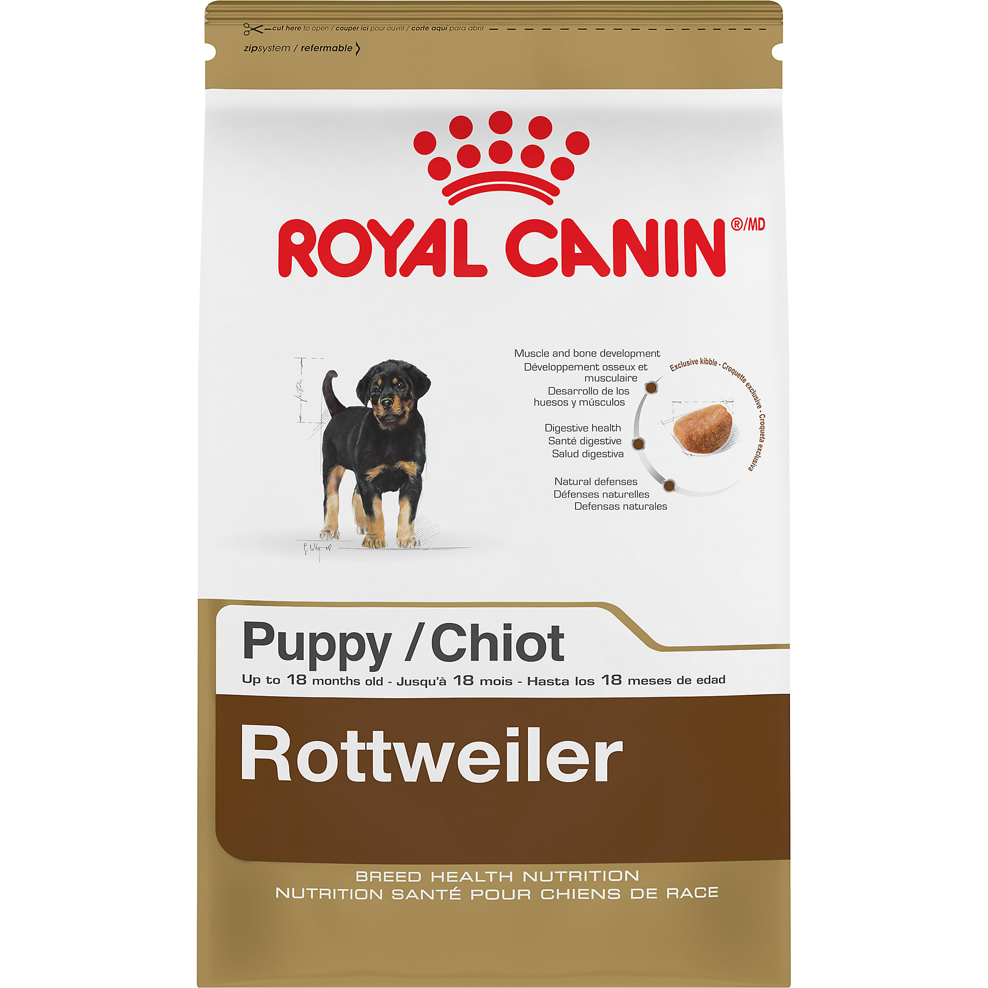 Royal Canin Breed Health Nutrition Rottweiler Puppy Dry Food, 30 lbs.