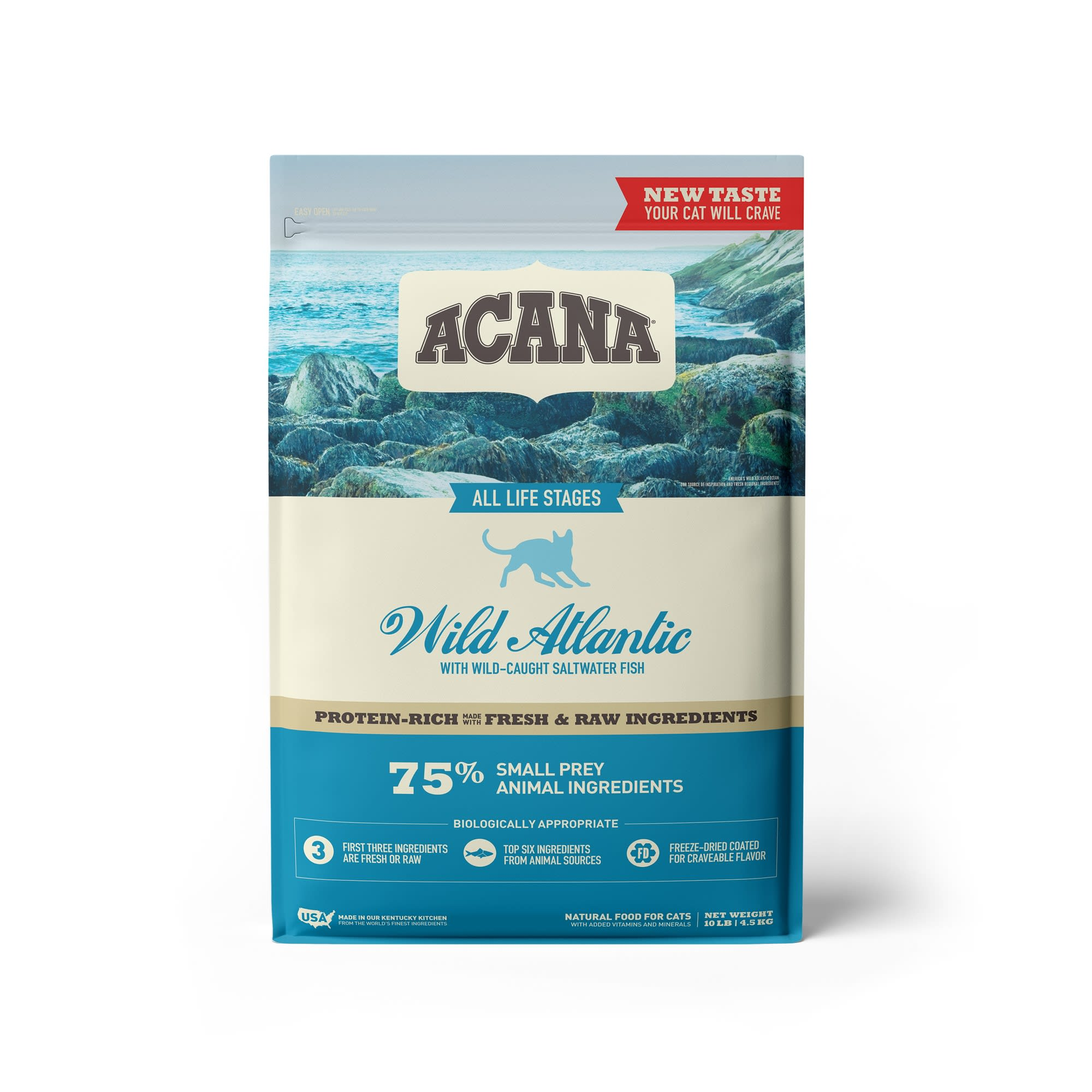 ACANA Grain-Free Wild Atlantic Saltwater Fish with Freeze-Dried Liver Dry Cat Food