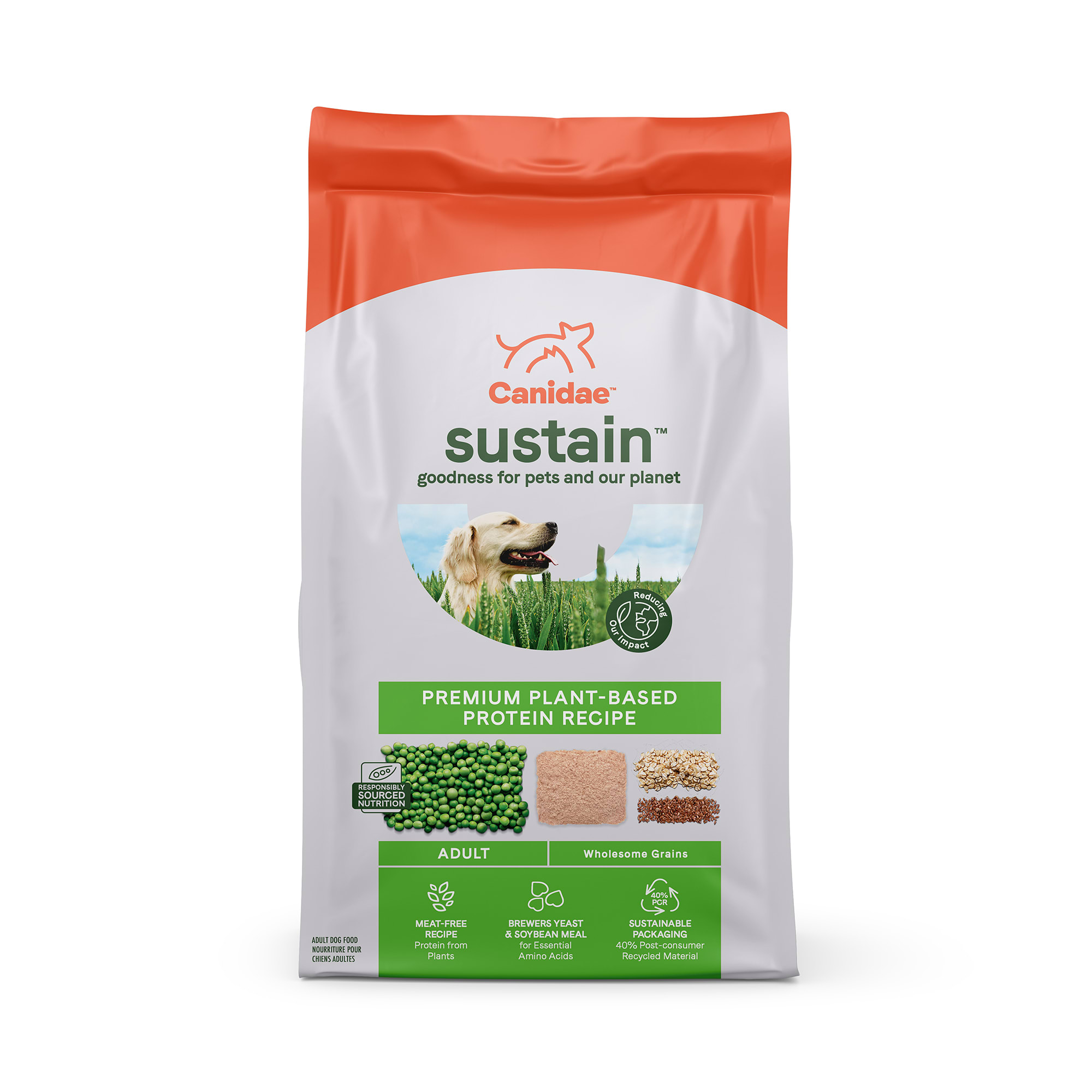 Canidae Sustain Premium Plant-Based Protein Recipe Adult Dry Dog Food, 18 lbs.