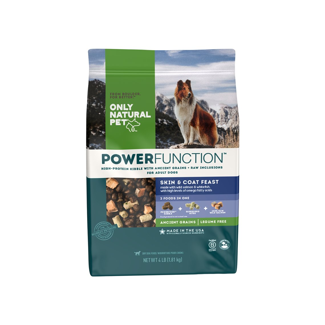 Only Natural Pet PowerFunction Skin & Coat Feast Dog Food
