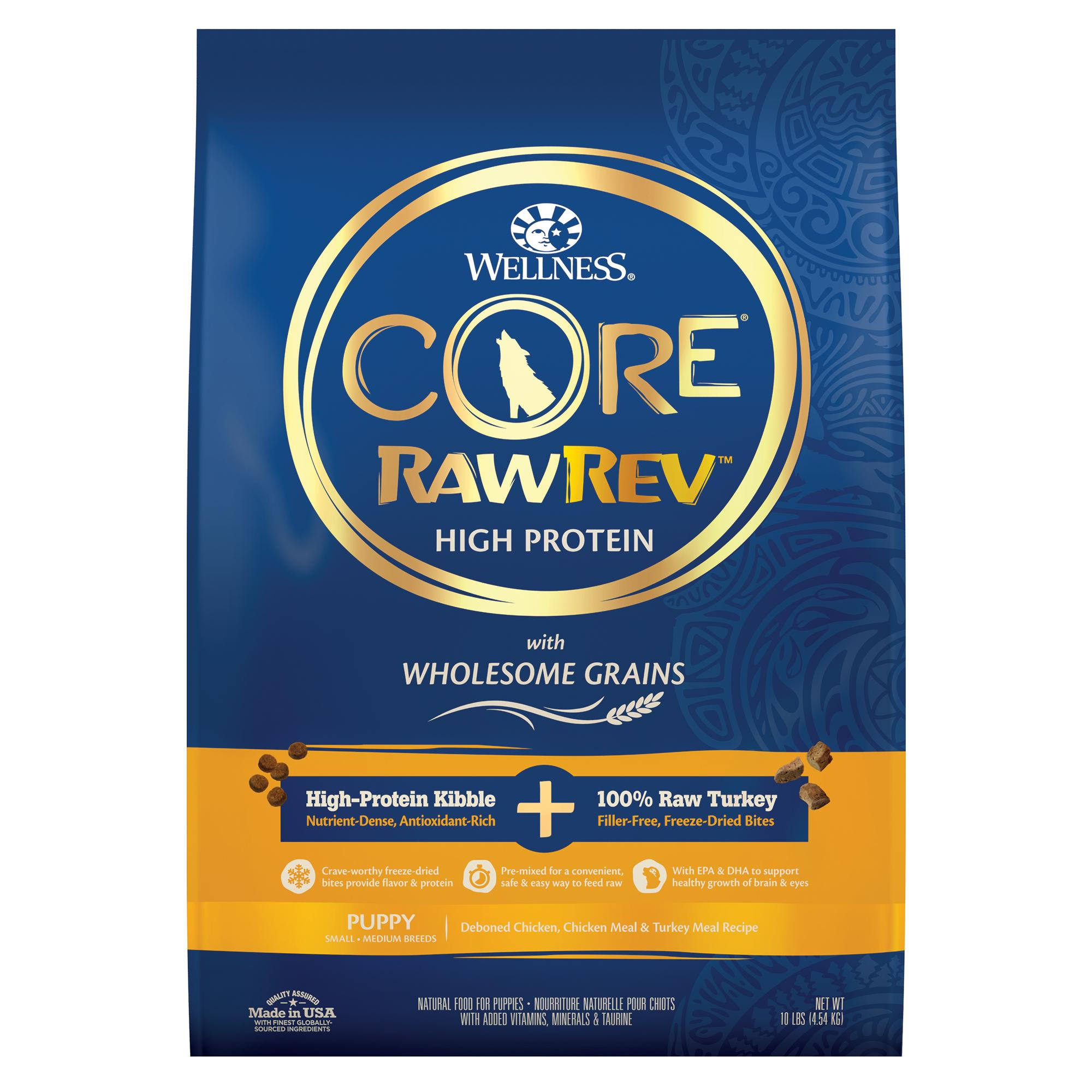 Wellness CORE RawRev Wholesome Grains Chicken Recipe Dry Puppy Food, 10 lbs., Bag