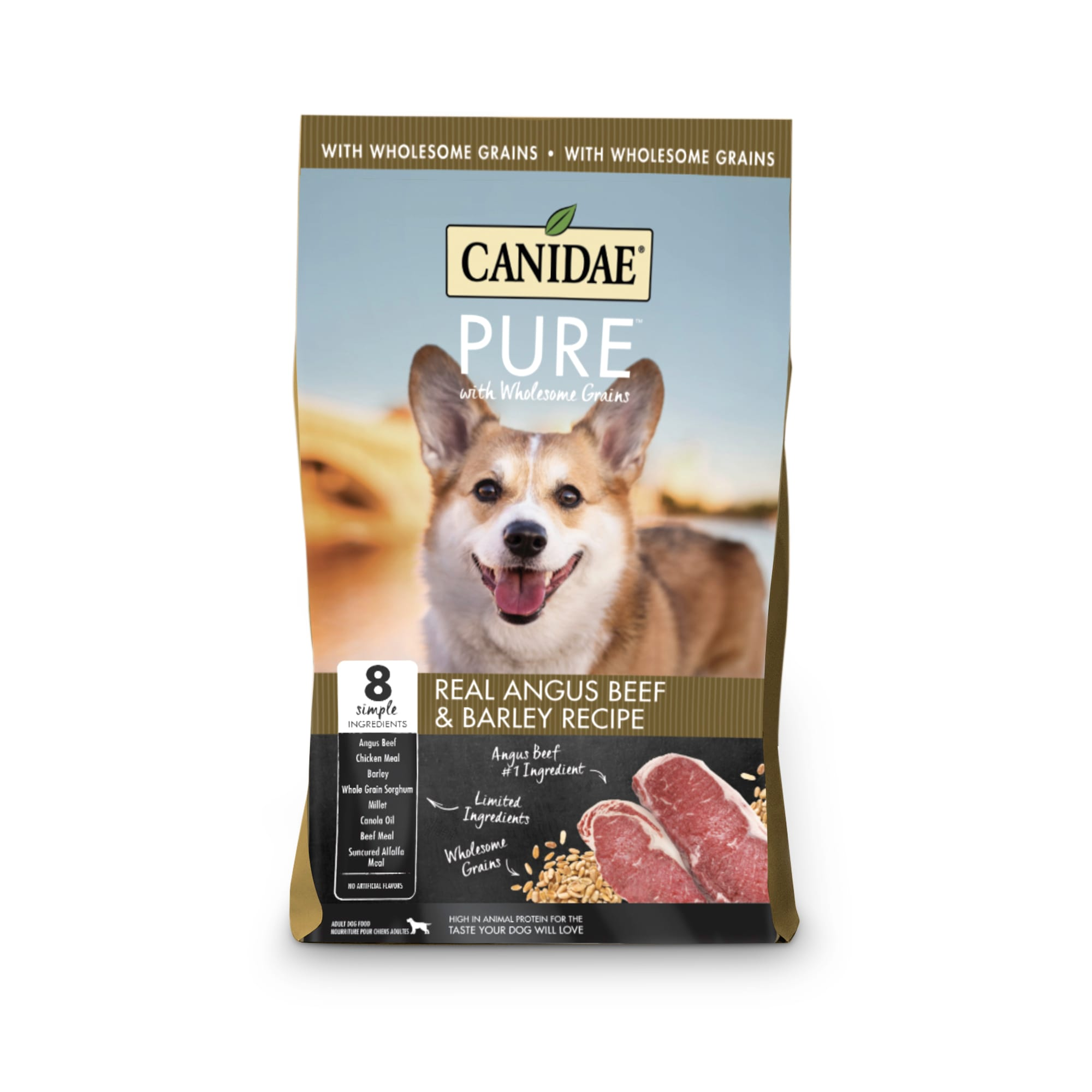 Canidae PURE Wholesome Grains Limited Ingredient Real Angus Beef and Barley Recipe Dry Dog Food