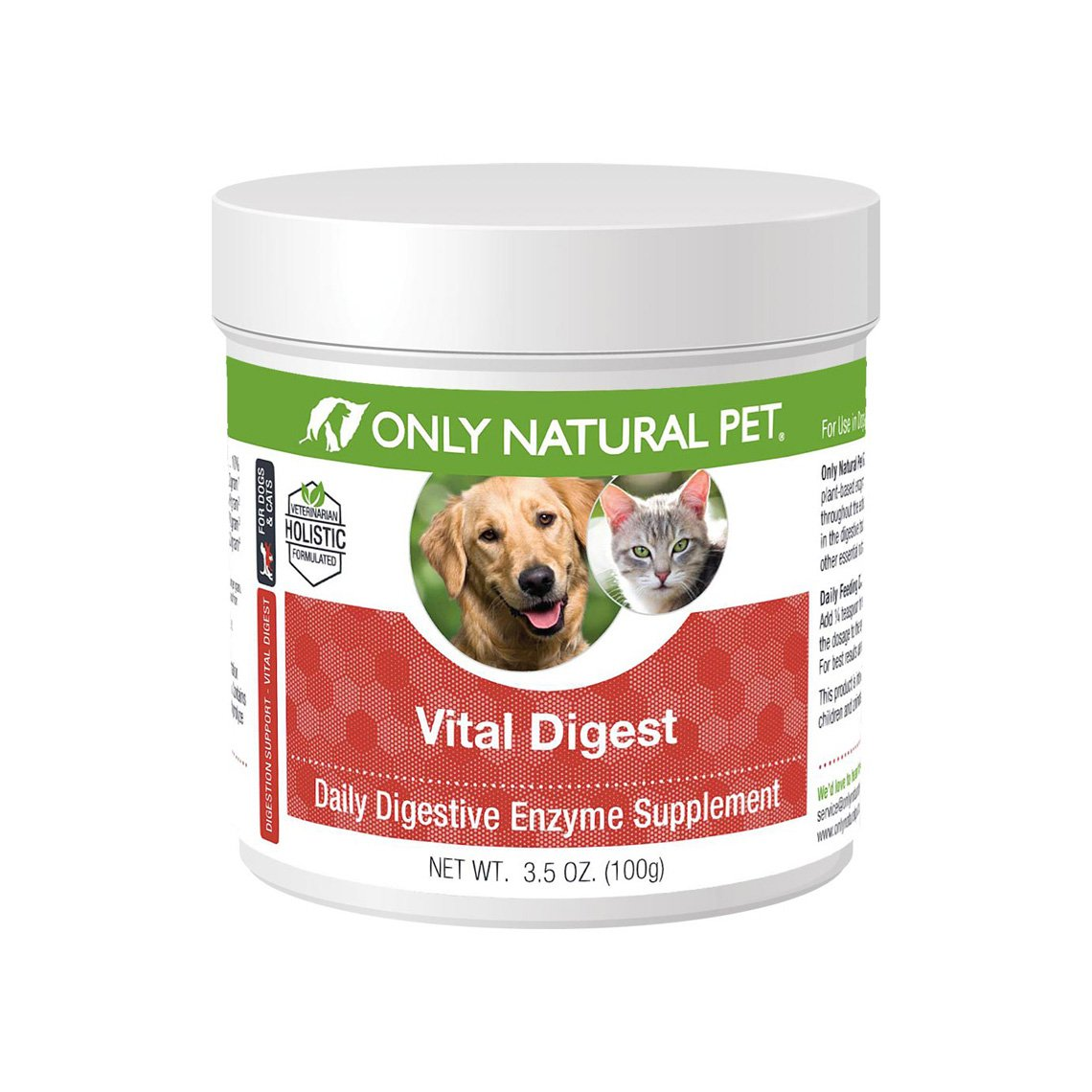 Only Natural Pet Vital Digest Digestive Enzymes for Dogs & Cats